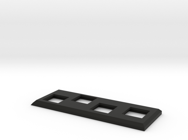 Disco_Robo_Tape_Button_Panel in Black Natural Versatile Plastic
