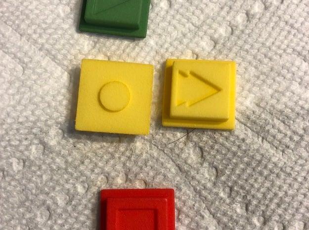 Disco Robo Stop Button in Red Processed Versatile Plastic