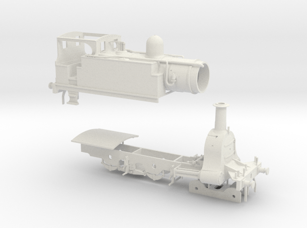 N. L. R. outside cylinder 440 tank loco (small cab in White Natural Versatile Plastic