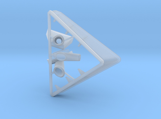 Type 14 frigate foredeck parts 1:96 in Smooth Fine Detail Plastic