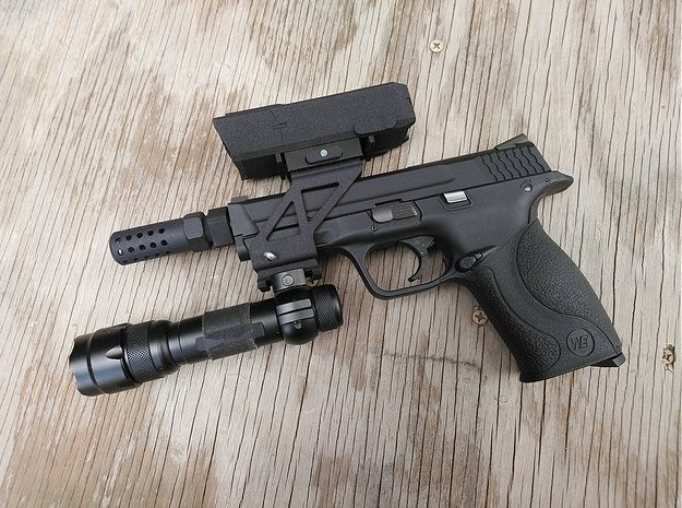 BWS Zombie Response Pistol in Green Processed Versatile Plastic