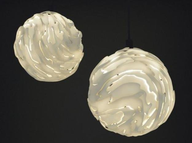 Flo Hanging Light Shade Big in White Natural Versatile Plastic