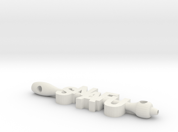 SNAFU situation normal all FU  in White Premium Versatile Plastic