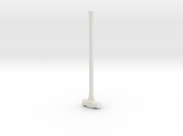Sledge Hammer - 1:8 scale in White Natural Versatile Plastic