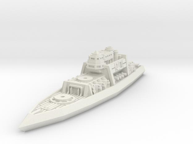 Lodbrok Class Battleship in White Natural Versatile Plastic