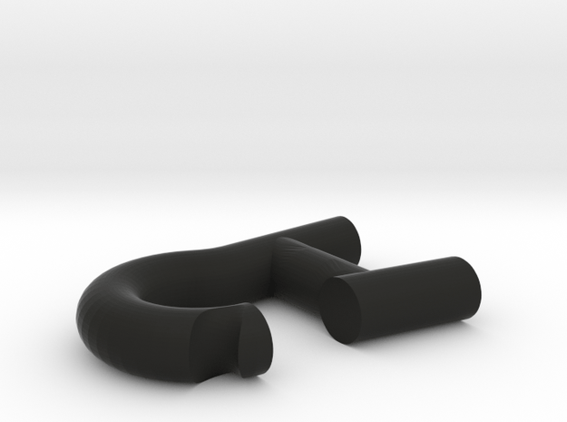 Bicycle Rear Rack Part 1 (Seat Post Hook) in Black Natural Versatile Plastic