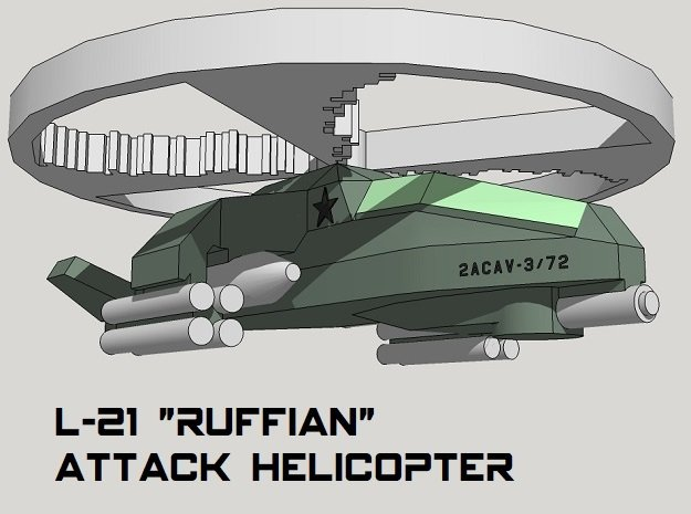 3mm Sci-Fi Attack Helicopters (8pcs)