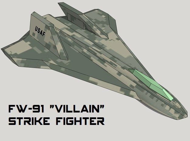 3mm Sci-Fi Strike Fighters (8pcs)