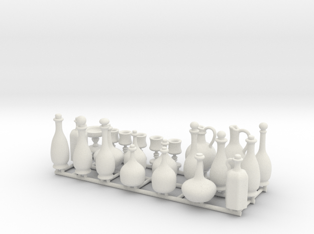 Drinkware for 1:24 scale settings.