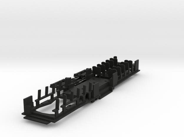 HO Unmodernized PE Hollywood Floor in Black Natural Versatile Plastic