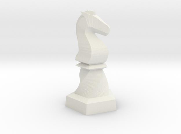 Geometric Chess Set Knight in White Premium Versatile Plastic