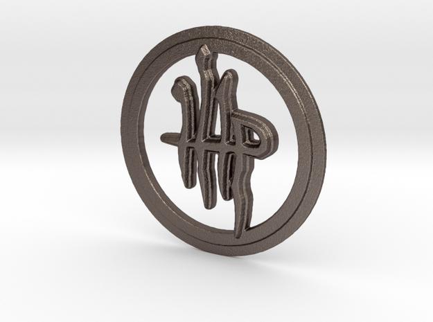 Milkweed Rune in Polished Bronzed Silver Steel