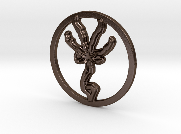 Beast in Polished Bronze Steel