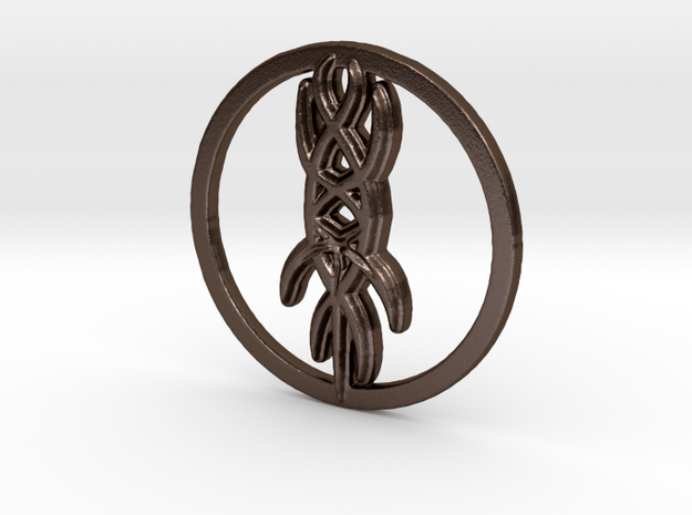 Oedon Writhe in Polished Bronze Steel