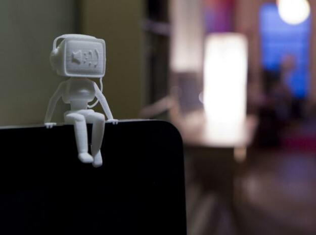 Desktop Buddies: Robo 01 in White Natural Versatile Plastic