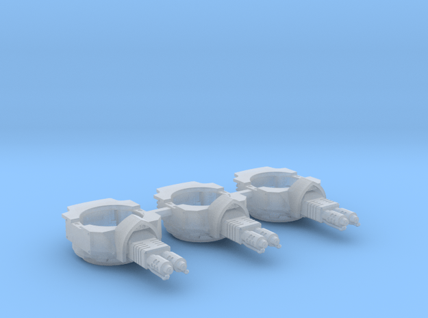 Heavy Transport Flamethrower Turret - 3 Pack in Smooth Fine Detail Plastic