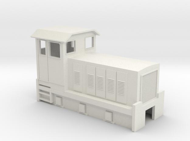 HOn30 Australian 6w Sugar Cane Locomotive 2  in White Natural Versatile Plastic