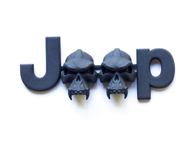 #CuzitsCustom Evil Monkey Skulls OEM Font in Black Natural Versatile Plastic: Small
