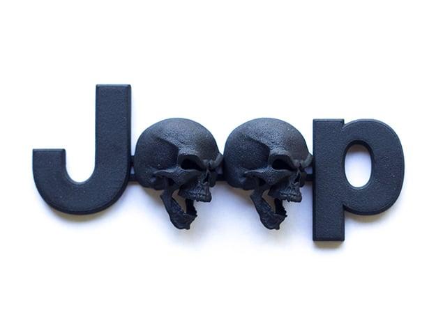 #CuzitsCustom Screaming Skulls OEM Font in Black Natural Versatile Plastic: Small