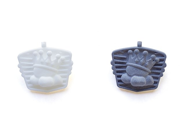 HotRod Popcorn Keychain with Bottle Opener in White Processed Versatile Plastic