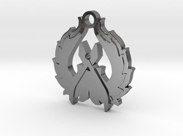 CS:GO - Counter-Terrorist Pendant in Polished Silver