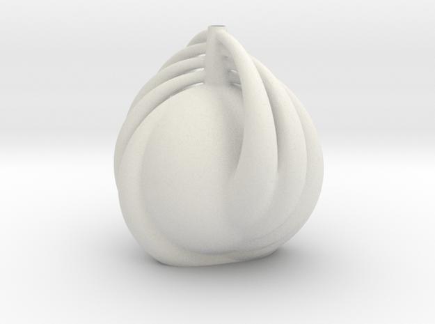 Vase 1109redux in White Natural Versatile Plastic