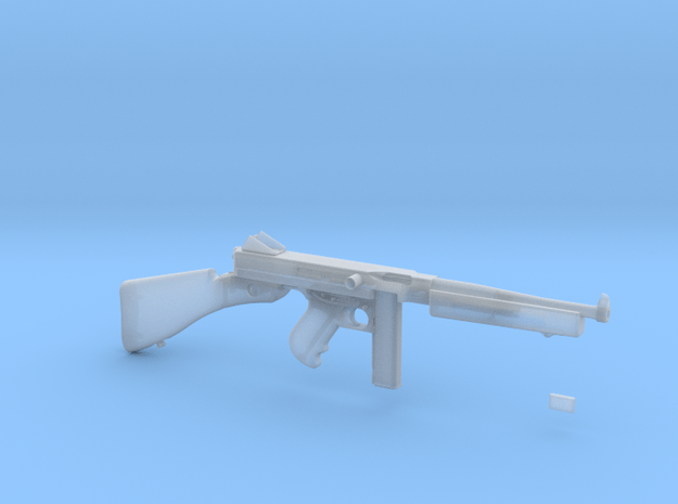 1/4 Scale 1941 Thompson Submachine Gun in Smooth Fine Detail Plastic