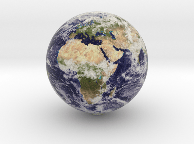 Earth 1:100 million in Natural Full Color Sandstone