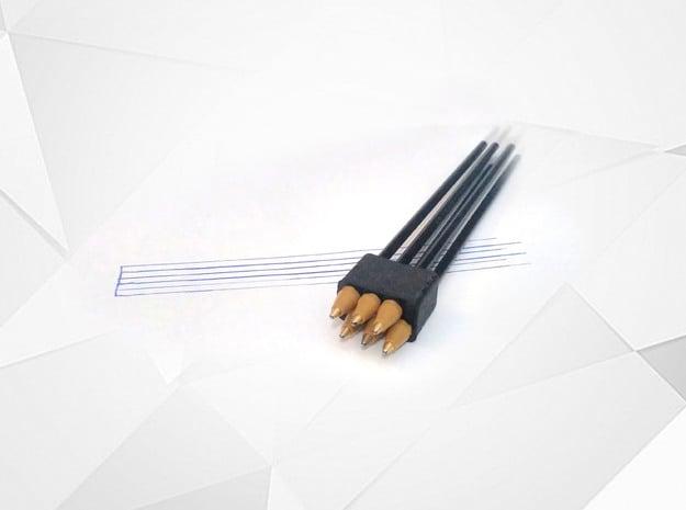 Music Line TAB pen in Black Natural Versatile Plastic: Medium