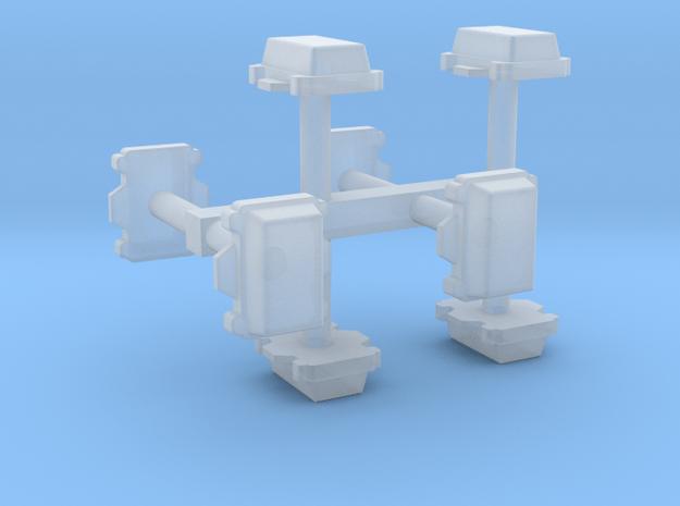 Kabelverteiler groß 8erSet 1:120 TT in Smooth Fine Detail Plastic