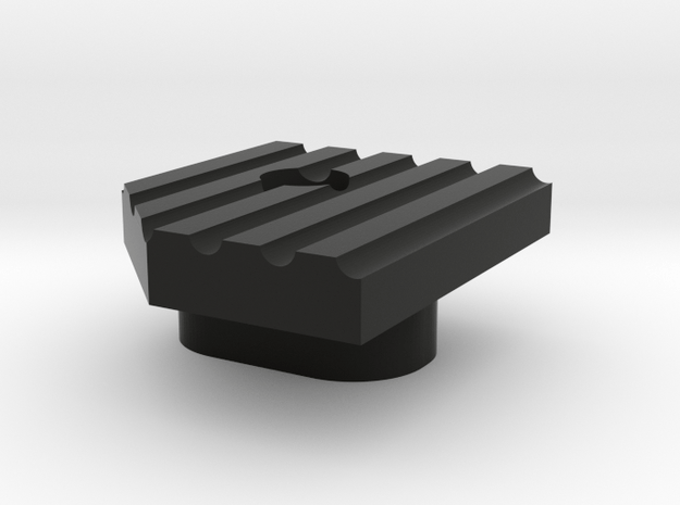 Deranged extended M4 mag release in Black Natural Versatile Plastic