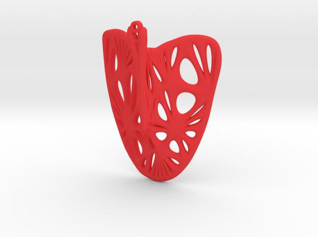 Enneper Earring (005) in Red Processed Versatile Plastic