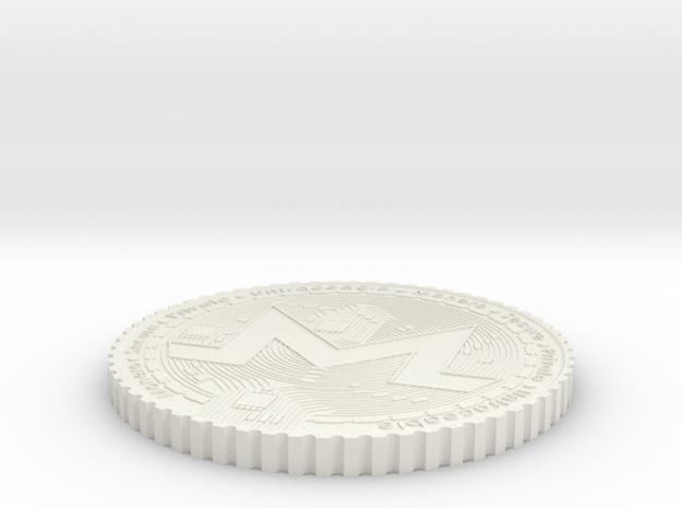 Monero Coin #2 in White Natural Versatile Plastic