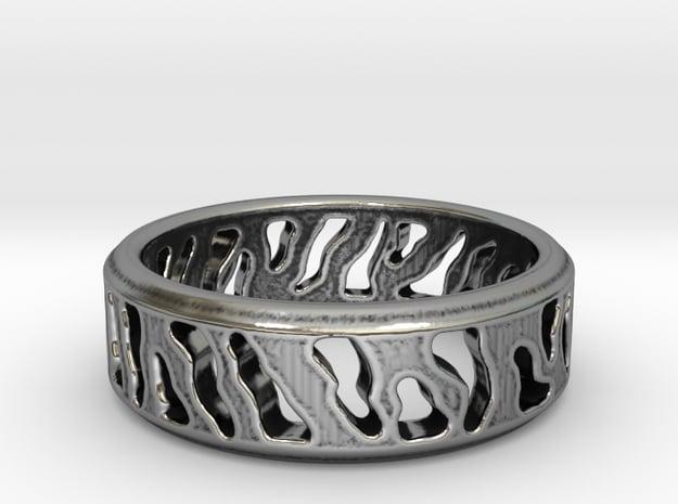 Tiger Stripe Ring in Antique Silver: 5 / 49