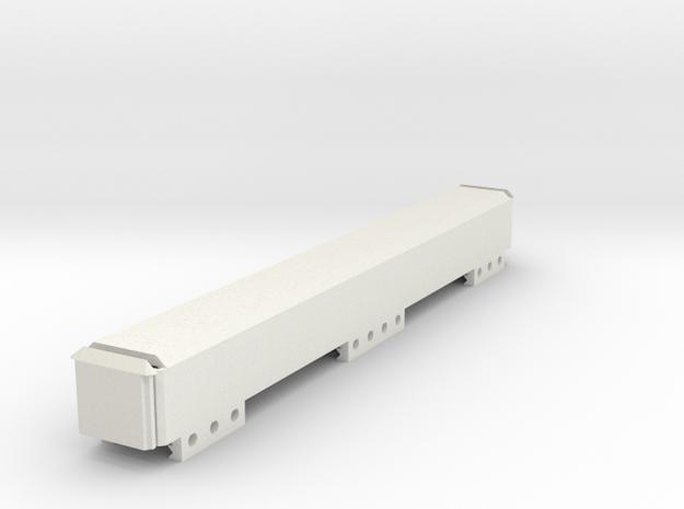 Stick Battery Box (230mm) in White Natural Versatile Plastic