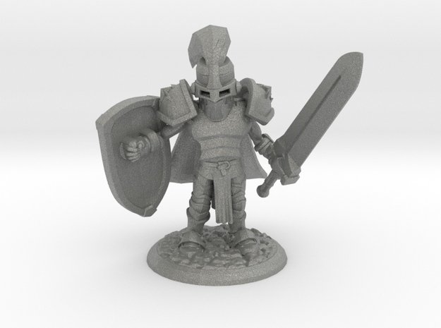 TRISTAN THE PALADIN in Gray PA12