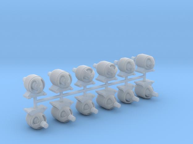Generatormotor (80%_V5bisV10) 12erSet - TT 1:120 in Smooth Fine Detail Plastic