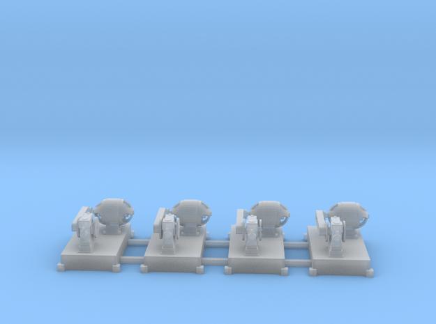 Motor-Generator-Satz (V8) mit Transmission 4erSet  in Smooth Fine Detail Plastic