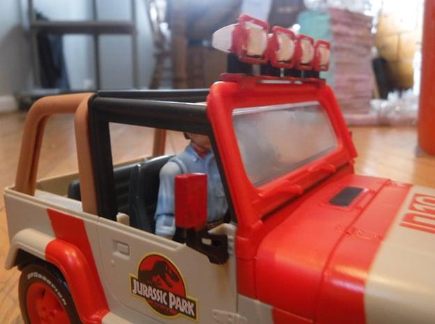 Mattel Legacy Jeep Mirrors  in White Natural Versatile Plastic