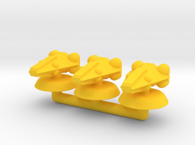 Delta Generic Small Warship Squadron in Yellow Processed Versatile Plastic