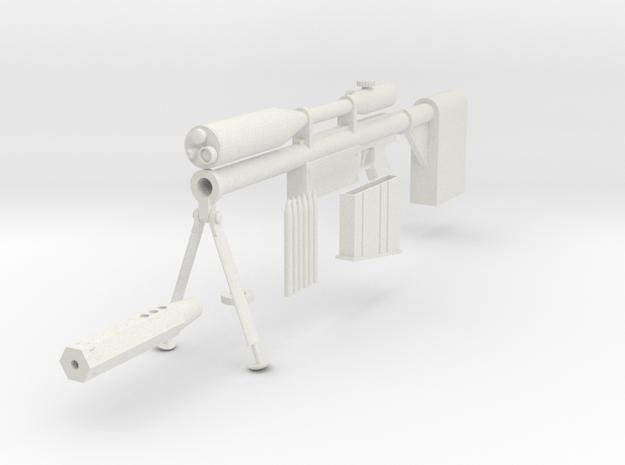 1/3rd scale Yoko Ritona Sniper Rifle  in White Natural Versatile Plastic