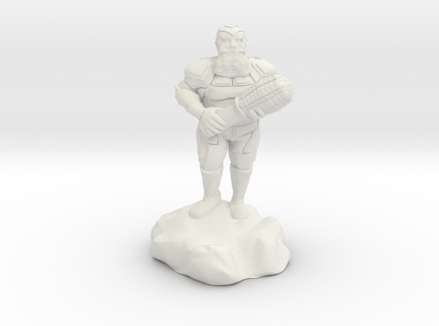hill dwarf with greatclub in White Natural Versatile Plastic