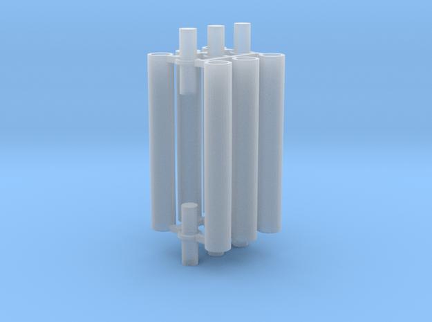 Rauchabzug Rohr 90mm 2erSet 1:120 TT in Smooth Fine Detail Plastic