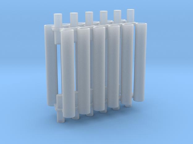 Rauchabzug Rohr 90mm 4erSet 1:120 TT in Smooth Fine Detail Plastic