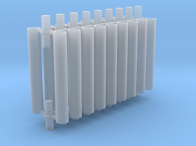 Rauchabzug Rohr 90mm 6erSet 1:120 TT in Smooth Fine Detail Plastic