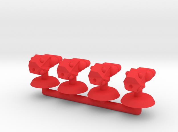 Zeta Generic Small Warship Squadron in Red Processed Versatile Plastic