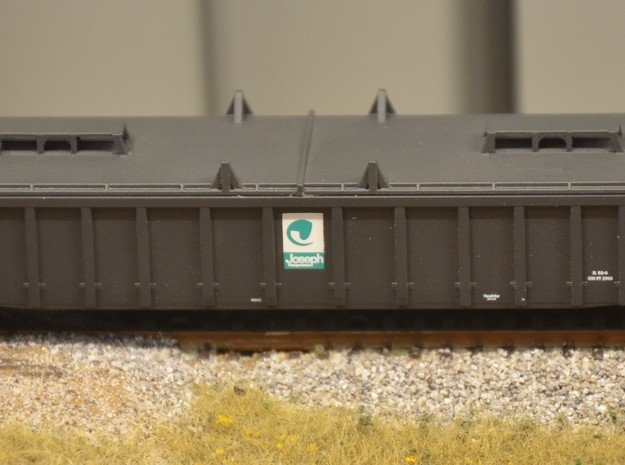 GONDOLA COVER 2 N scale in Smooth Fine Detail Plastic