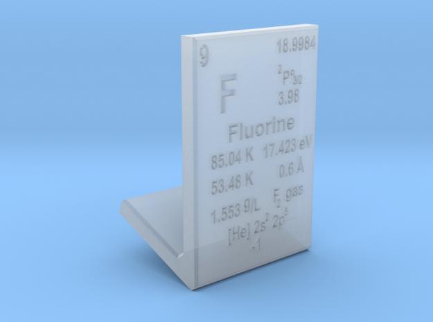 Fluorine Element Stand in Smooth Fine Detail Plastic
