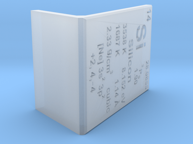 Silicon Element Stand in Smooth Fine Detail Plastic