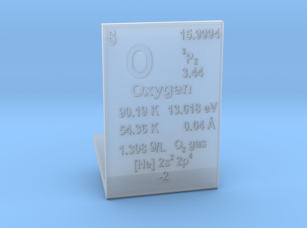 Oxygen Element Stand in Smooth Fine Detail Plastic